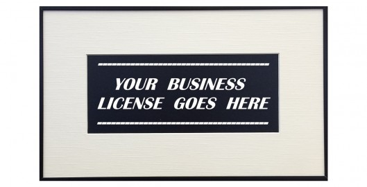BUSINESS LICENSE FRAMING resized2