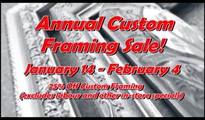 2017 framing sale for website