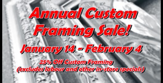 2017 framing sale for website