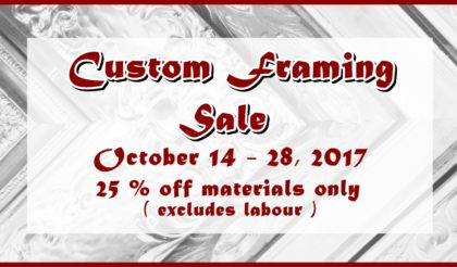 custom framing October 2017